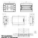 Coffret électrique étanche IP65 IDE Ecology 18 modules 1 rangée