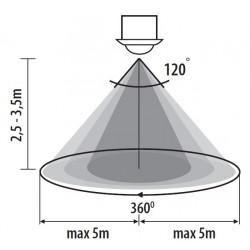 Détecteur infrarouge encastrable 360° MERGE JQ-O