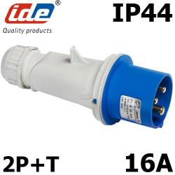 Prise CEE monophasé 16A 2P+T étanche IP44 ou IP67 IDE