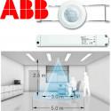 Zone de détection du mini détecteur de présenceABB Basic LINE