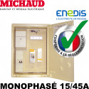 Coffret de chantier provisoire MONOPHASÉ 15/45A - Michaud P490 Michaud