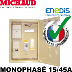 Coffret de chantier provisoire MONOPHASÉ 15/45A - Michaud P490