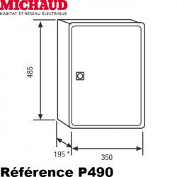 Coffret de chantier provisoire MONOPHASÉ 15/45A - Michaud P490 Michaud