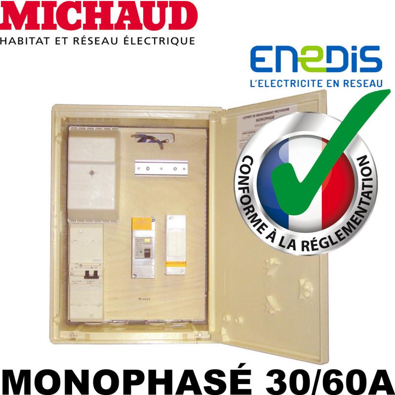Coffret de chantier EDF Monophasé 30/60A - Michaud P489