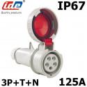 Prise tétrapolaire femelle 125A IP67 IDE