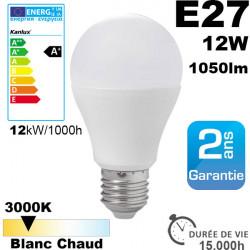 Ampoule LED E27 1000 lm équivalent 75W Blanc chaud 3000K 20,000h
