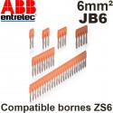 Barrette de jonction Entrelec JB6 pour borne ZS6 Entrelec