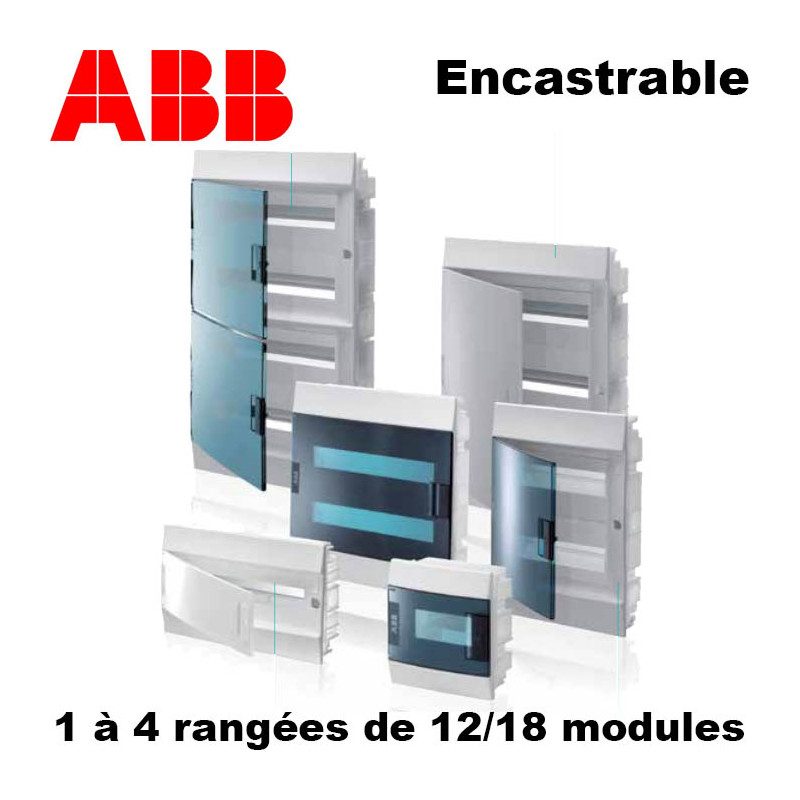 coffret encastrable abb mistral 41 f livr en 24h. Black Bedroom Furniture Sets. Home Design Ideas