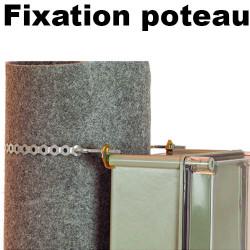 Kit de fixation poteau boitier polyester ROC IDE IDE