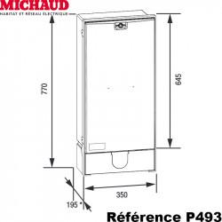 Coffret provisoire triphasé 30/60A Michaud P493 Michaud