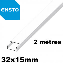 Moulure PVC 32x15mm ENSTO pour mur ou plafond - Longueur 2 mètres