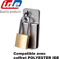 Fermeture par cadenas coffret polyester IDE