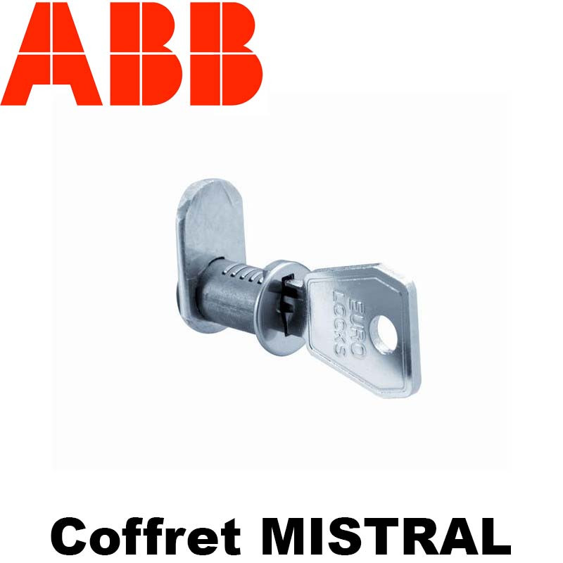 Serrure à clé pour coffret ABB Mistral 41F encastré