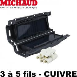 Boite de jonction GEL avec connecteurs - Michaud Quick Gel