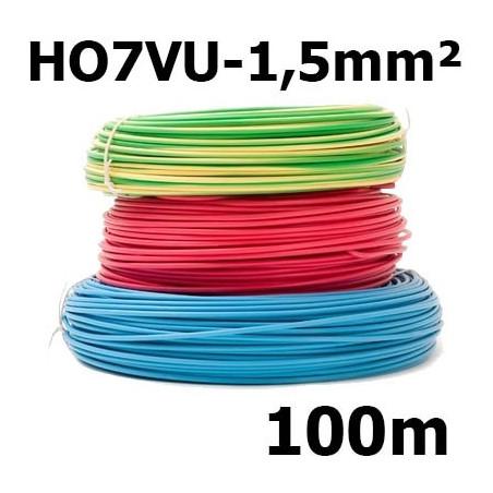 Fil rigide HO7VU 1,5mm²