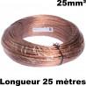 Cablette de terre (cuivre nu 25mm²) couronne de 25 mètres