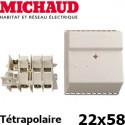 Coffret coupe circuit à cartouche tétra 22x58 - Michaud P074