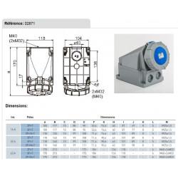 LUMINAIRE ETANCHE 258W HF + TUBES 840 KIT FAST CLIPS INOX