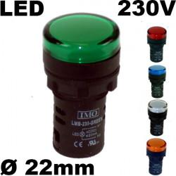 Voyant lumineux à LED 230V - Étanche IP65