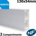 Goulotte ENSTO 130x54 - 2 compartiments pour appareillage 45x45