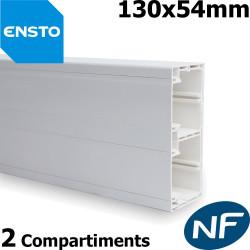 Goulotte ENSTO 130x24 - 2 compartiments pour appareillage 45x45