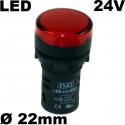 Voyant lumineux 24V AC/DC à LED - Étanche IP65