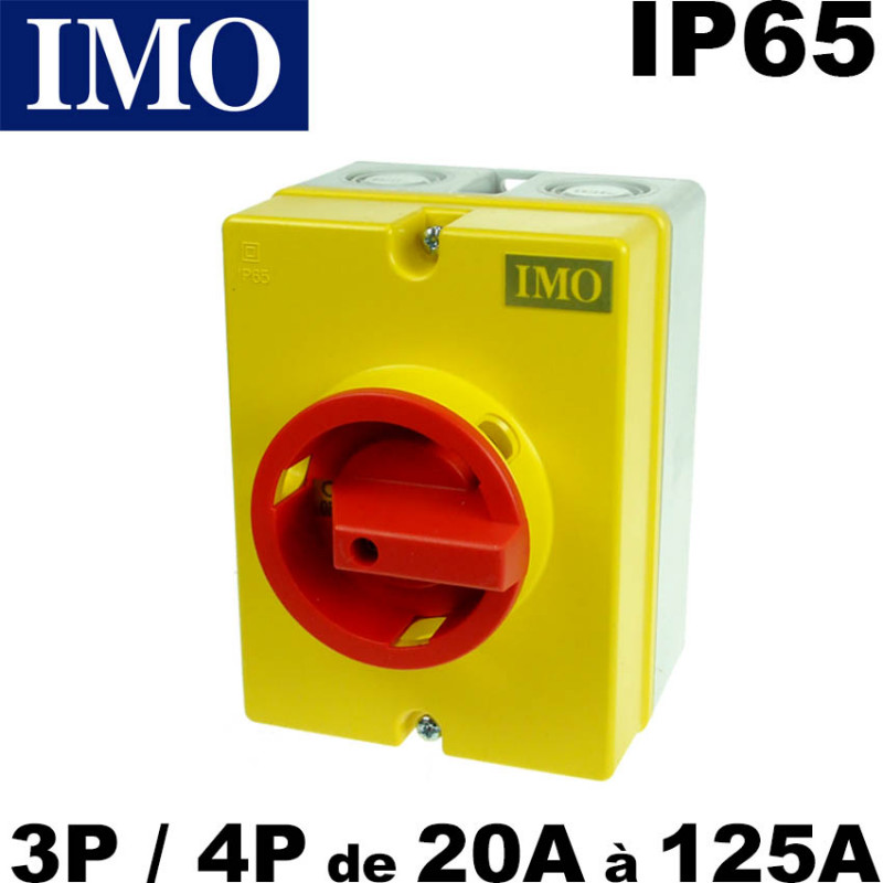Interrupteur de proximité 3P ou 4P de 20A à 125A