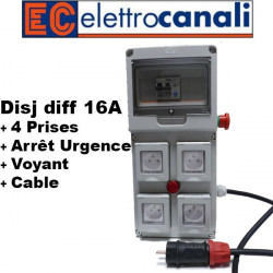Coffret de chantier elettrocanali 4PC IP55