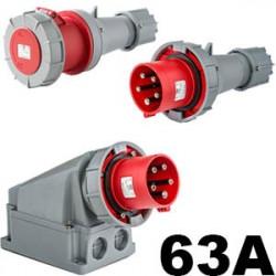 Prise industrielle 63A triphasé, tétra ou mono - Prise 63A hypra 22€