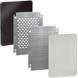 Plaque montage acier à visser ou en polyester, plaque perforées