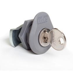 Serrure avec barillet et clé pour coffret électrique pas cher