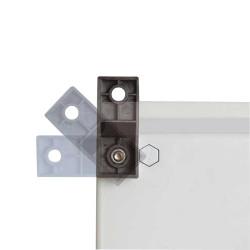 Système de fixation murale pour coffret électrique ou armoire