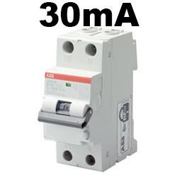 Disjoncteur différentiel et disjoncteur 30mA à 28,35€