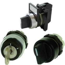 Bouton tournant rotatif et bouton à clé pour armoire électrique à 4€ HT