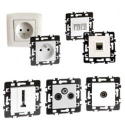 Prises diverses : prises RJ45, des prises Ethernet, prises réseaux...