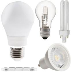 Source lumineuse: Ampoules, LED, Fluo et tubes Fluo.