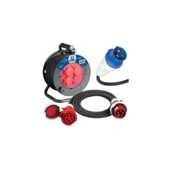 Rallonge électrique, enrouleur électrique H05VV-F / H07RN-F, protection thermique