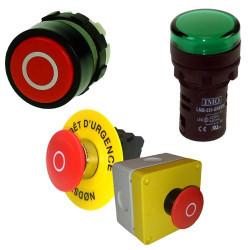 Boutons et Voyants LED pour armoire électrique