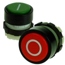 Bouton de commande industriel, bouton poussoir et rotatif