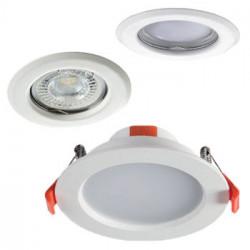 Spot encastrable et support spot encastrable pour ampoule LED GU10