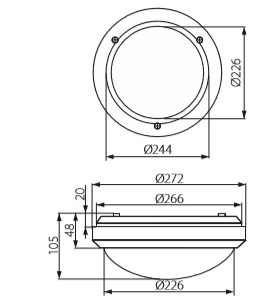 dimensions hublot etanche kanlux