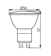 dimensions ampoule led gu10 pro kanlux