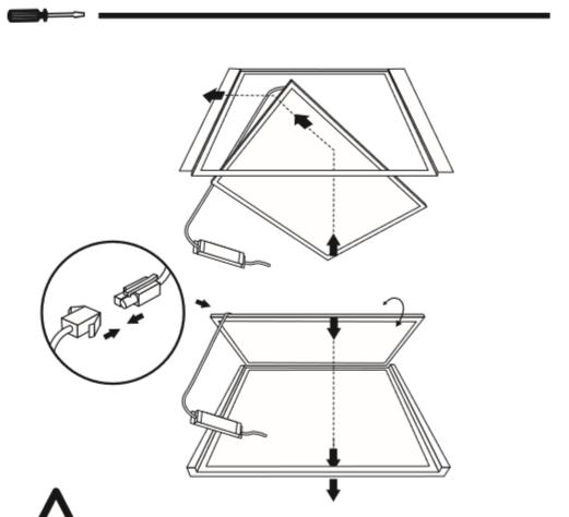 mode d'emploi installation dalle led 60x60 lumineuse partie 4