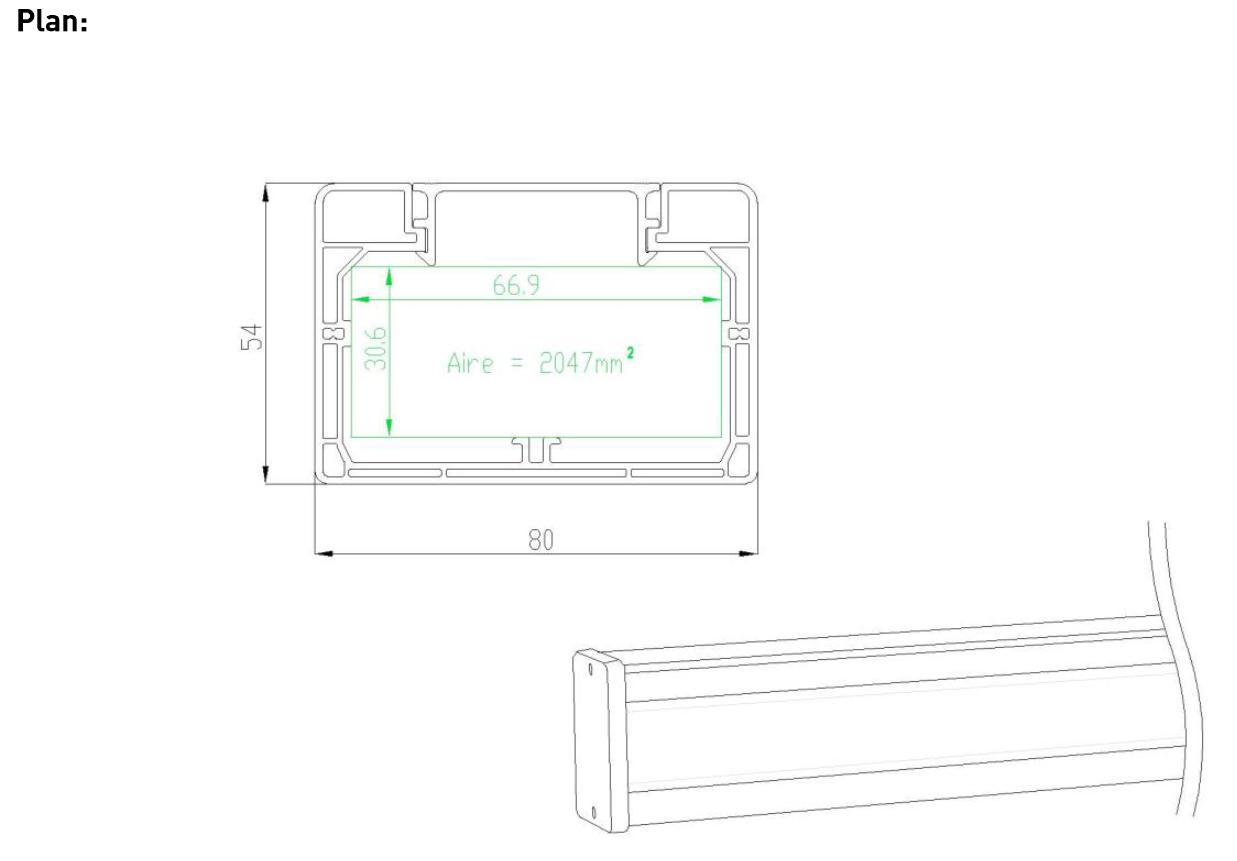plan goulotte electrique ensto 80x54 1 compartiment 2m