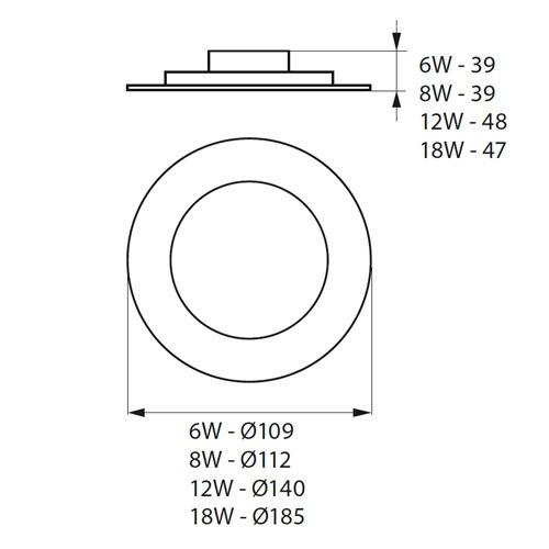 dimensions Spot LED encastrable extra plat