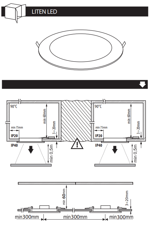 mode emploi Spot LED encastrable extra plat
