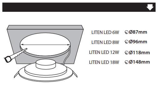 mode emploi Spot LED encastrable extra plat1