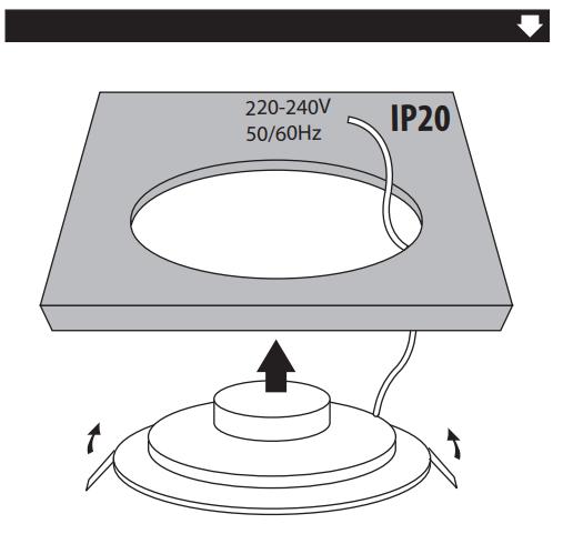 mode emploi Spot LED encastrable extra plat3