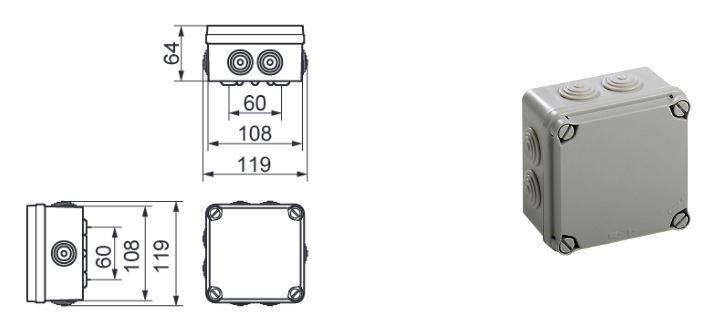 Boite De Dérivation étanche Extérieur Ip65 6 Tailles Différentes 0 96
