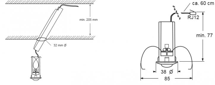 Mini Détecteur De Présence Encastrable 32mm Abb